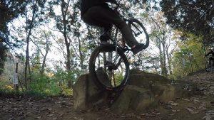 自転車で山へ